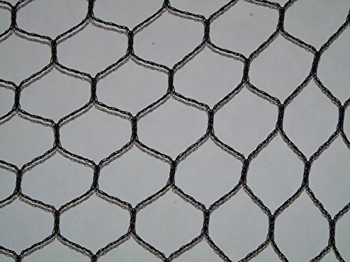 Heavy Weight Bird Netting (G2) 1' Mesh (25' x 50') Bird Poultry Aviary Game Pens Netting, Plant Protective Netting, Repellent, 100% Made in The USA …