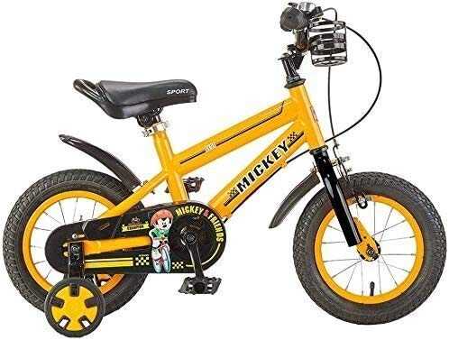 MGE Children's Balance Bikes, Bicycles Baby Bicycles 3-9 Year Old Boys and Girls 12/14/16 Inch Sports Bikes Outdoor Cycling, Giving Children The Best Gift (Color : Yellow, Size : 14in)