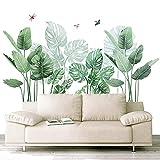 Pegatinas de Pared Planta Tropicales,alcomanías de Pared de Plantas Verdes(talla grande 140×85cm)para Dormitorio, Sala de Estar, Comedor, Pared de Fondo de Tv Etc