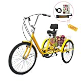 Best Adult Tricycles - EOSAGA Adult Tricycles 7 Speed 24/26 Inch Trike Review