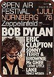 Bob Dylan and Eric Clapton Blechschilder, Metall Poster,