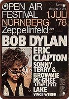 Bob Dylan and Eric Clapton in Germany 金属板ブリキ看板警告サイン注意サイン表示パネル情報サイン金属安全サイン