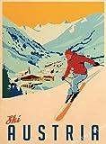 shuimanjinshan Retro Ski in Amerika Leinwand Malerei Ski