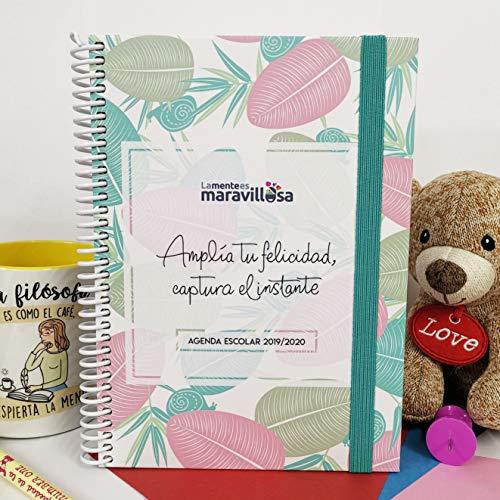 La Mente es Maravillosa - Agenda escolar 2019-2020 (Tamaño A5, Semana Vista) Diseño Hojas