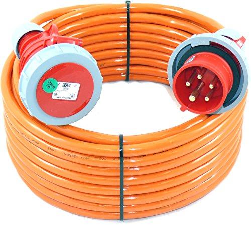 CEE Verlängerungskabel wasserdicht PUR H07BQ-F 5G2,5 5x2,5 16A IP67 15m