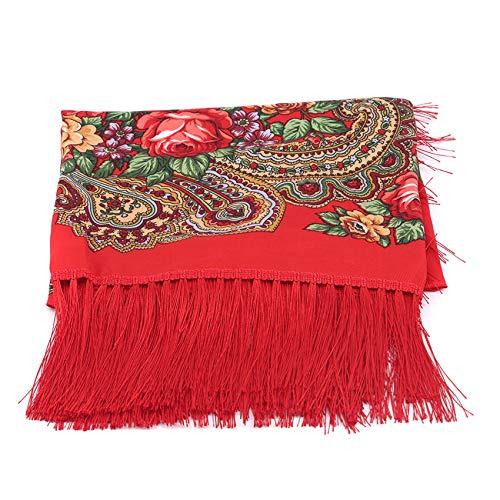 LWANFEI Damenschal mit Quaste, schöne Mehrzweckschals für Damen Lady Girls,rot