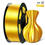 ➽【1.75mm Vacuum Pack Shiny Silk PLA + Filament】 1kg spool 1.75mm filament PLA in vacuum packing. 100% Enviromental Material, made of corn straw, the silk pla is degradable, also a universal 3D printer filament, compatible with most of the printers in...