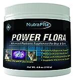 POWER FLORA - Probiotics for Dogs and Cats with 9 Live Strains - Dog Probiotics Improves Dog Breath, UTI, Diarrhea, Constipation, Skin Allergy, Hot Spots - Odorless Powder - 350 Billion CFU/jar