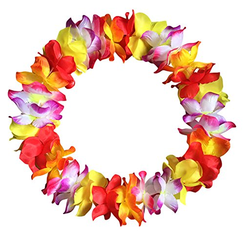 Steellwingsf Leis Flower Gulands Hawaii Tropical Party Wear Hen Night - Collar de vestido de moda (multicolor)
