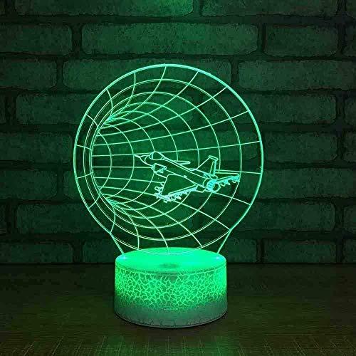 Veilleuse Avion Lampe 3D Smart Bedside Creative Studio LED Santé des yeux Veilleuse USB LED Lampe 3D