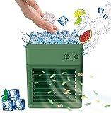 Ventilador de aire acondicionado portátil 3 en 1, mini enfriador de aire, 3 velocidades de viento, gran depósito de agua, funcionamiento ultrasilencioso