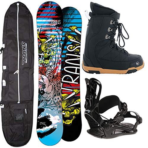 Unbekannt Herren Snowboard Trans Style 146 cm + FASTEC BINDUNG GR. M + Boots + Bag