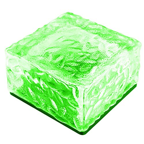 QCSTORE Plaza Ice Cube Solar Suelo Baldosas Césped Luz Durable Exterior Jardín Escaleras Terraza Baldosas Luz
