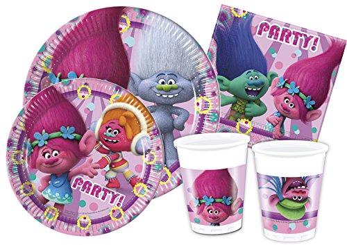 Ciao-Y4326 Trolls Kit Mesa Fiesta, multicolor, 24 personas (Y4326)