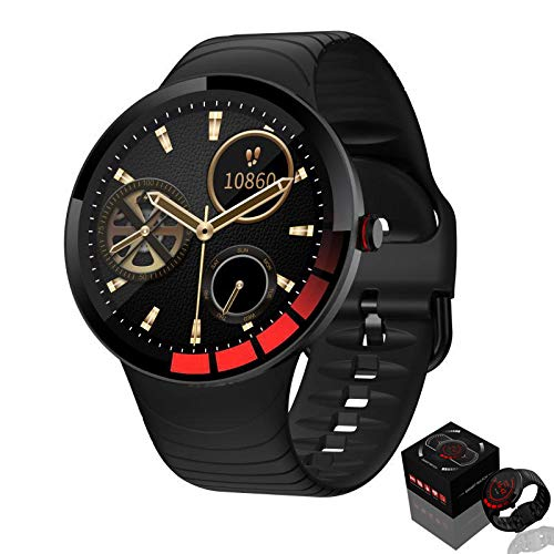 Cybill Smartwatch, 6 Interfaces UI, Reloj Inteligente Con Pantalla TáCtil De 1.28 Pulgadas,Rastreador De Ejercicios Con Monitor De Frecuencia CardíAca, Reloj Multideporte Impermeable Ip68,PodóMetro