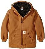 Carhartt Little Boys' Active Duck Jacket, Carhartt Brown, XX-Small-4/5