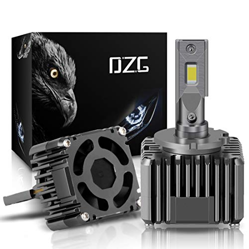 DZG D1S D1R D3S D3R LED Headlight Bulbs 6000K Bright White 2 Yr Warranty, 2 Pack