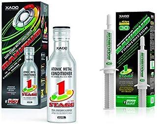 XADO Set de Aceite para Motor, aditivo + Caja de Cambios de Engranaje aditivo contra el Desgaste y la protección – 1 Unidad máxima + 1 transmisión máxima.