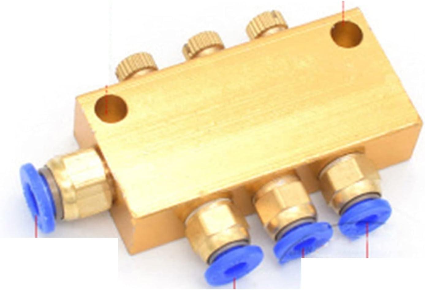 KHJK Lube Oil Piston Distributor, 2 3 4 5 6 7 8 9 10 12 Way Mani