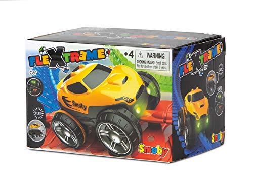 Smoby 180907WEB – FleXtreme Rennauto gelb– zusätzliches Auto für Flextreme Starter-Set, Rennbahn für Autos, für Kinder ab 4 Jahren, flexible Strecke mit Looping