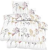 Biancheria da letto in tessuto seersucker, 2 x 135 x 200 cm + 80 x 80 cm, colore bianco, senza stiratura, in microfibra (60337)