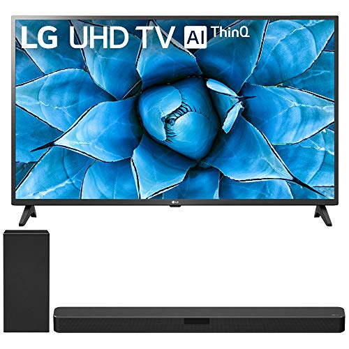 LG 55UN7300PUF 55-inch UHD 4K HDR AI Smart TV (2020) Bundle SN5Y 2.1 Channel High Res Audio Sound Bar with DTS Virtual:X