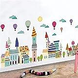 bloom Große abnehmbare rosa Prinzessin Wandaufkleber Luftballons Fenster Aufkleber Schlafzimmer Dekor Wandposter Baby Nurser Girls Schlafzimmer Kunst