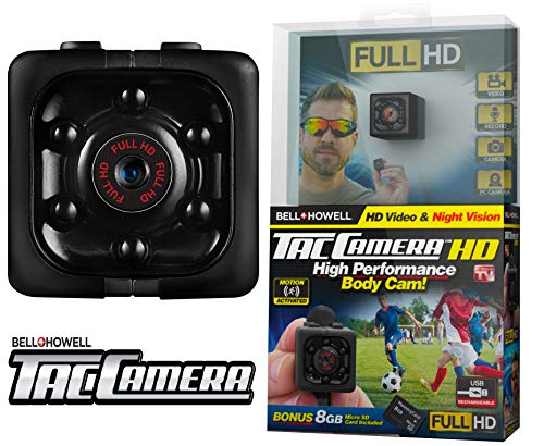 Bell + Howell TAC CAM 16GB Body Camera for Surveillance HD Video and Audio, Easy Clip on (As Seen On TV)