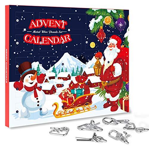 Gallop Chic Adventskalender mit knobeln, Weihnachtskalender 2020 mit 24 Knobelei, Knifflige Rätselspiele und spannende Knobel, Weihnachten Geschenk für Kinde Junge Mädchen Teenager Erwachsene