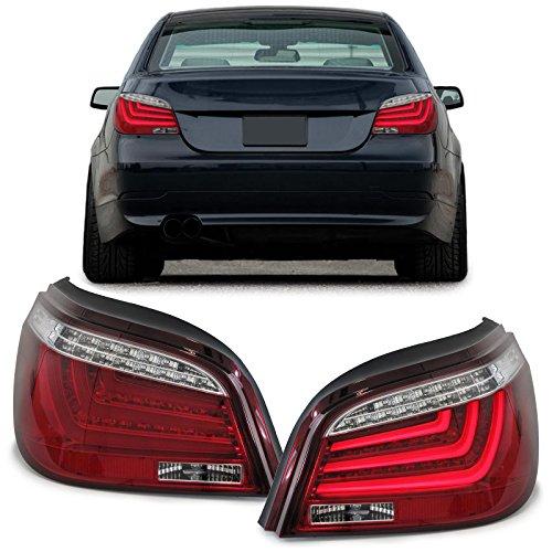 Carparts-Online 27856 LED Lightbar Klarglas Rückleuchten mit LED Blinker rot klar