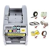 BITOWAT Dispensador de cinta eléctrico automático Cortador de cinta adhesiva Máquina de envoltura de cinta Juegos de dispensador de cortador de adhesivo para cinta de doble cara/Tela de vidrio