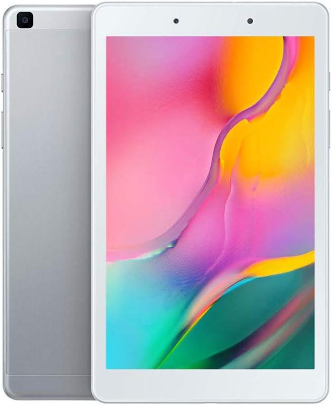 "Samsung Galaxy Tab A 8.0"" (2019, WiFi + Cellular) 32GB, 5100mAh Battery, 4G LTE Tablet & Phone (Makes Calls) GSM Unlocked SM-T295, International Model (32 GB, Silver)"
