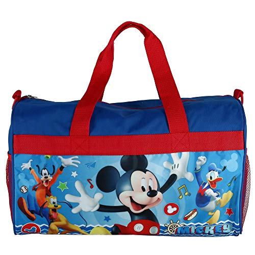 Boys 18' Mickey Mouse Blue/Red Duffel Bag Standard
