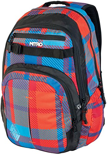 Nitro Snowboards Rucksack Chase, Plaid Red-blue, 51 x 37 x 23 cm