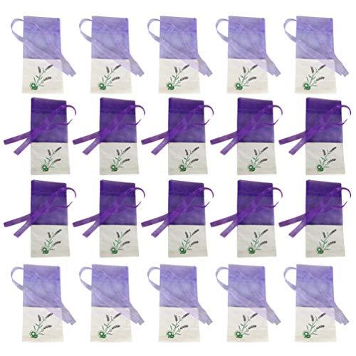 Vosarea 20 Stücke Leere Duftsäckchen Lavendelbeutel Lavendelsäckchen Duftbeutel Geschenksäckchen Organzabeutel Organzasäckchen mit Kordelzug Säckchen für Kleiderschrank Schublade