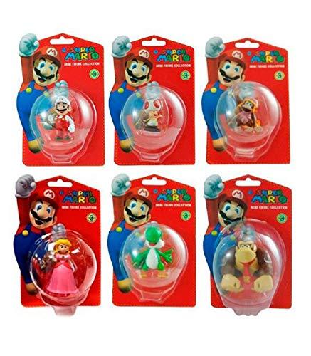 Nintendo – Super Mario – 1 Mini Figurine 5 cm – Modèle Aléatoire