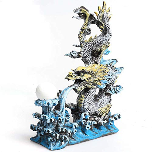Resin Fish Tank Decoratie Oriental Dragon, Exotische Milieu Aquarium Ornament, ideaal voor kleine garnalen Guppy