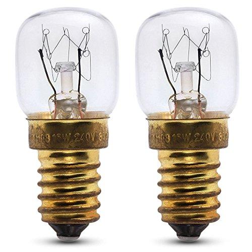 2 x 25 W kachellamp voor gebruik in een Miele oven. 240 V. Hittebestendig. SES (E14) kleine Edison Sokkel kachelpeer