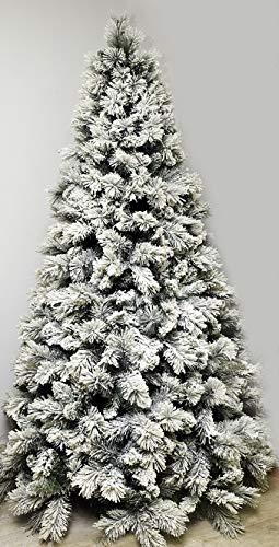 Albero di Natale Cortina New Top Innevato Apertura Ramo per Ramo 225 cm