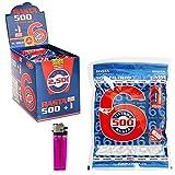 Rasta 8000 Filtros Finos Slim 6mm, Boquilla Liar Tabaco,16 Bolsas de 500 Filtros + 1 Mechero.