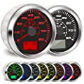 BLUERICE 7 Backlight Universal GPS Speedometer 0-120Km/h 0~80MPH 85MM GPS Speed Odometers Speed Gauges Indicators from BLUERICE