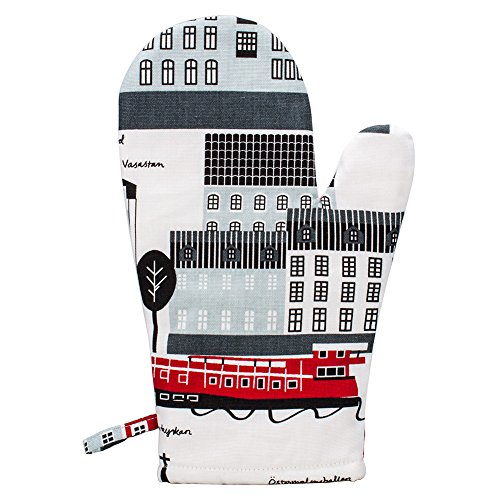 [ クリッパン ] Klippan オーブンミトン 鍋つかみ コットン リネン オーブングローブ 5350.01 マイストックホルム/レッド Oven Gloves My Stockholm Red 北欧 雑貨 オーブンミット キッチン用品 新生活 [並行