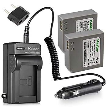 Kastar 2 Pack Battery +Charger for Samsung IA-BP85ST IA-BP85NF HMX-H100 HMX-H104 HMX-H105 HMX-H106 SC-HMX10 HMX20C SC-MX10 SC-MX20 SMX-F30 SMX-F33 SMX-F34 VP-HMX08 VP-HMX10 VP-MX10 VP-MX20 VP-MX25
