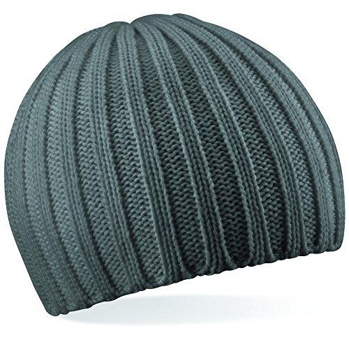Beechfield Unisex Chunky Knit Beanie Baseballkappe, Grau (Rauchgrau), One Size