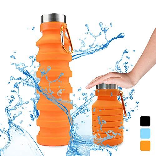 STLOVe Botella Plegable, Botella de Agua Plegable Suave Sili