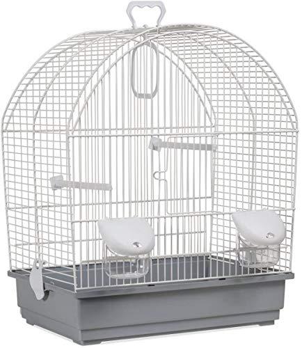 Voltrega Mirabel Cage à Oiseaux avec Base Rose 41 x 25,5 x 48 cm