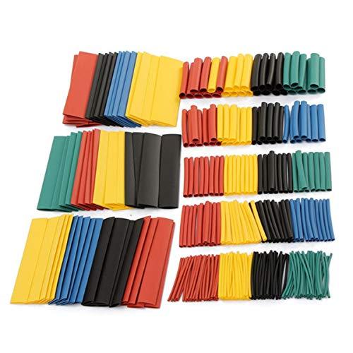 328tlg.Tubo termorretr/áctil Juego Heat Shrink Tube tubos termorretr/áctiles Colores Wire Wrap Assortment