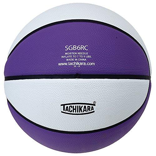 Why Choose Tachikara Intermediate Size, 2-Tone Rubber Basketball (Purple/White)