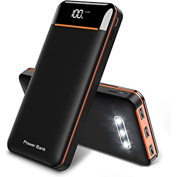 RLERON Batería Externa 25000mAh Powerbank, Power Bank de Alta ...