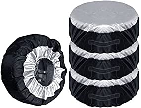 IUMÉ Set of 4 Wheel Tire Covers,Tire Protectors,UV Sun Waterproof RV Trailer Tire Protectors,Fits 30